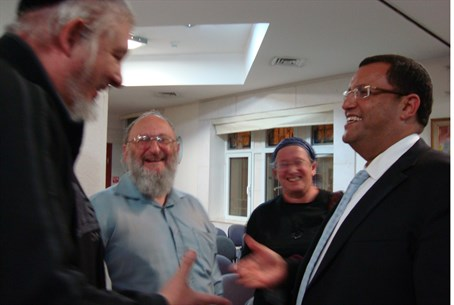 Moshe Lion with supporters