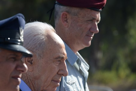 Pres. Peres with Chief of Staff Benny Gantz