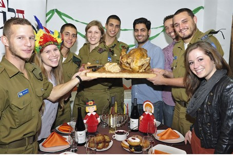 Olim celebrate Thanksgivukkah in Tel Aviv