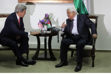 Kerry and Abbas (file)