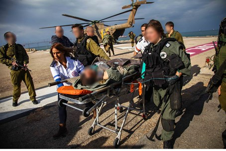 Injured soldier is evacuated following traini