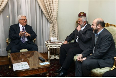 PA's Abbas and Hamas's Haniyeh meet, Feb 2012