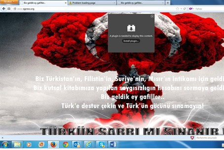 screenshot of the hacked site
