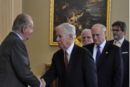 King Juan Carlos I of Spain meets Jewish lead