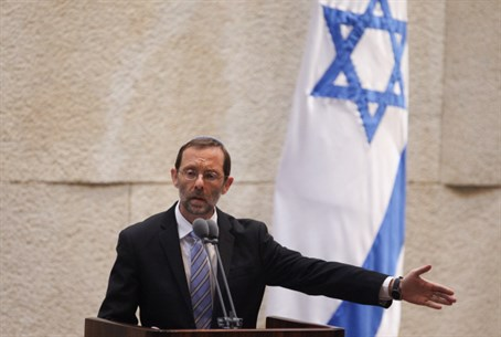 Moshe Feiglin at Knesset debate