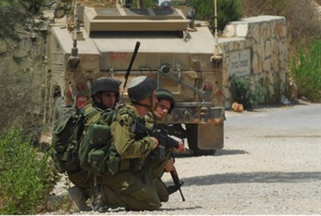 IDF soldiers in action.