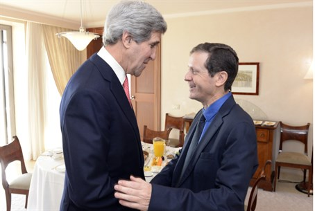 John Kerry and Yitzhak Herzog