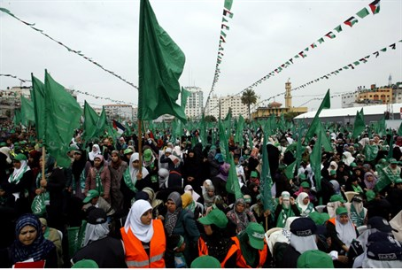Hamas rally in Gaza City