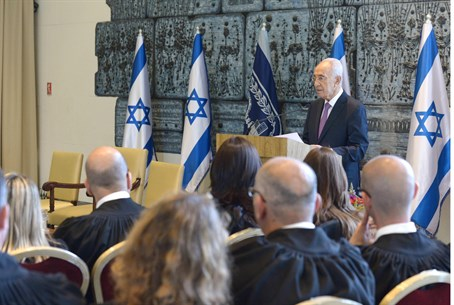Peres, at the ceremony