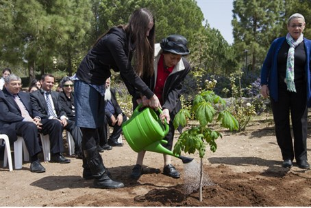 Planting of Anne Frank tree sapling (file)