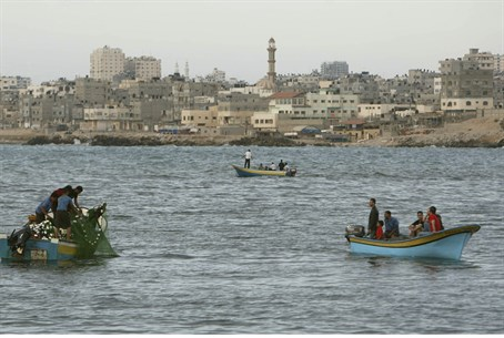 Fishing boats off Gaza