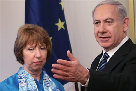 EU's Catherine Ashton and Binyamin Netanyahu