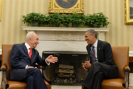 Peres and Obama at athe White House