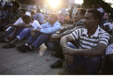 Eritrean immigrants in Tel Aviv