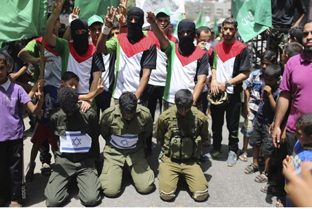 Hamas often portrays the 3 kidnapped teens as