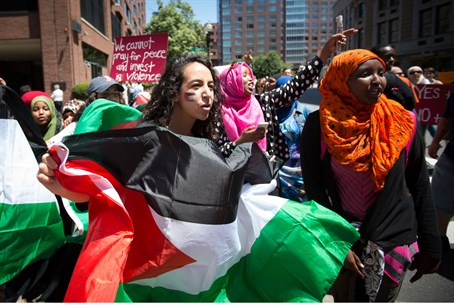 Anti-Israel protest outside Boston's Israeli