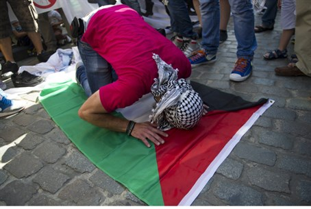Anti-Israeli protester in France (file)