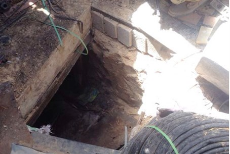 Terror tunnel discovered by IDF soldiers