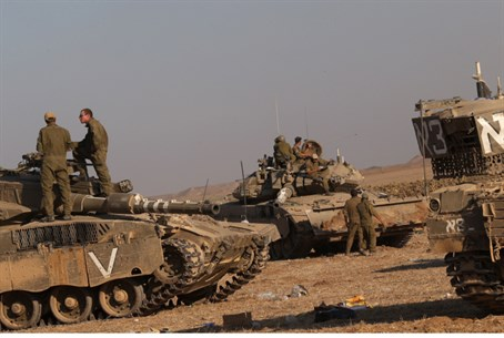 Tanks gearing up for Gaza