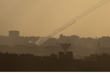 Rocket barrage from Gaza