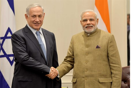 Prime Minister Netanyahu with India's PM Nare