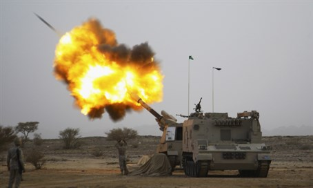 Saudi forces in battle Houthi rebels in Yemen