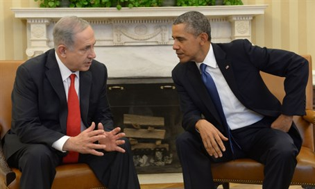 Netanyahu and Obama at the White House