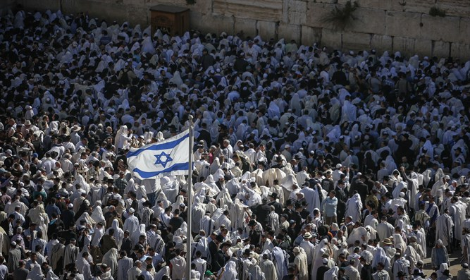 Birkat Kohanim at the Kotel