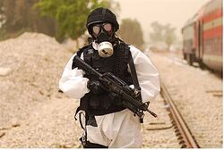 Chemical war drill