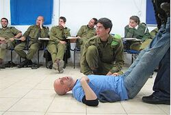 Actors train soldiers; Tamara Shavit, IDF Spokesperson's Unit