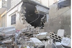 Damaged houses in Baba Amr, Homs