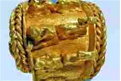 Ancient gold earring found at Megiddo