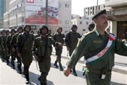 PA security forces march in Hevron