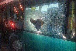 The attacked bus